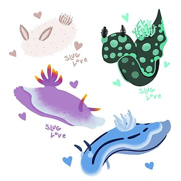 Sea Slug Sticker Set by Qynn