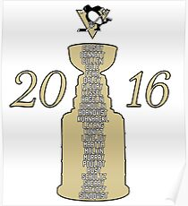 Pittsburgh Penguins Stanley Cup Champs 2016 Poster
