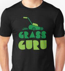 GRASS GURU (with lawn mower) T-Shirt