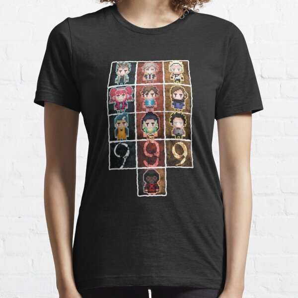 9 sprites 9 persons 9 pixels Essential T-Shirt