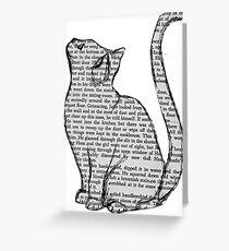 NEWSPAPER CAT tumblr merch! Greeting Card