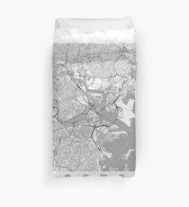Boston Map Line Duvet Cover