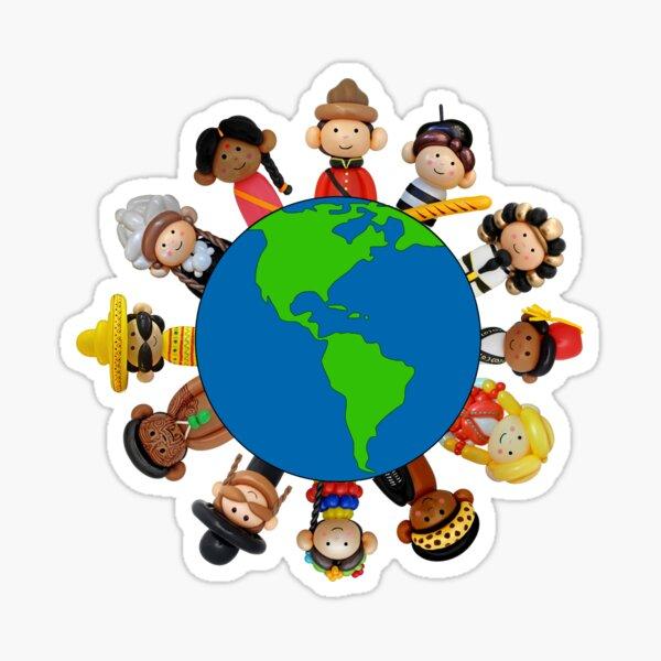 Its A Balloon World After All Globe Sticker