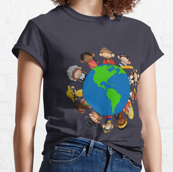 Its A Balloon World After All Globe Classic T-Shirt
