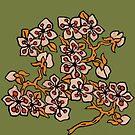 Golden Blossom on Grassy Green by genevievem