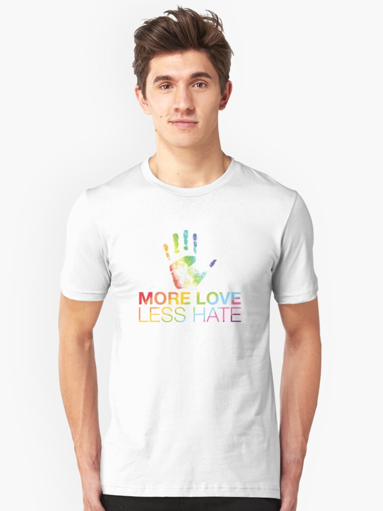 More Love Less Hate, Orlando Pride Unisex T-Shirt Front