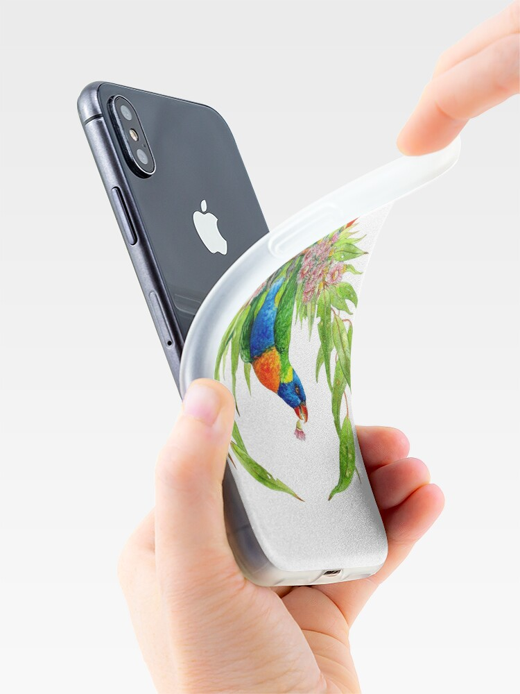 Alternate view of Rainbow Lorikeets iPhone Case & Cover