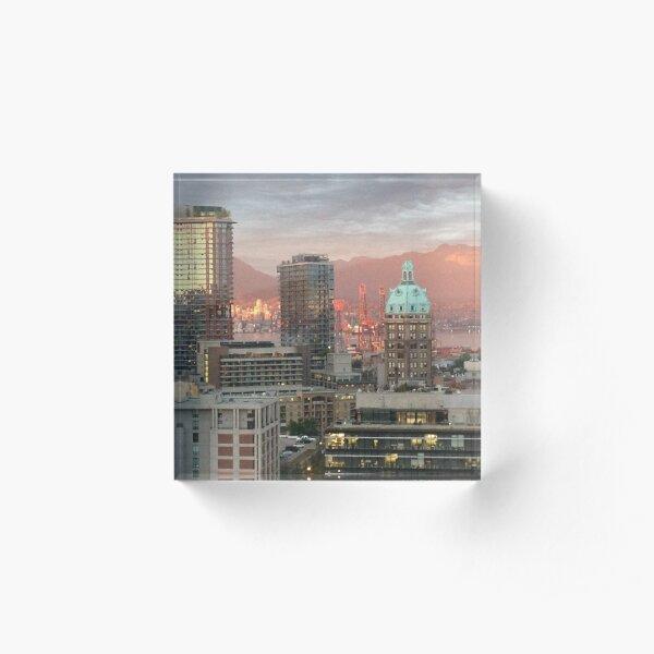 Vancouver City Scene Acrylic Block