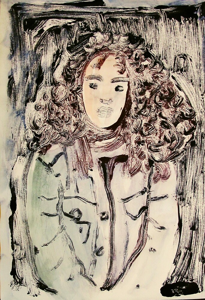 unknown curly haired girl by donna malone