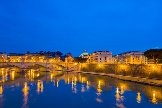 """""""River Tiber And Vatican City"""" Posters By Mats Silvan"""