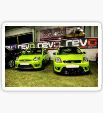 Two Green Fiestas HDR Sticker