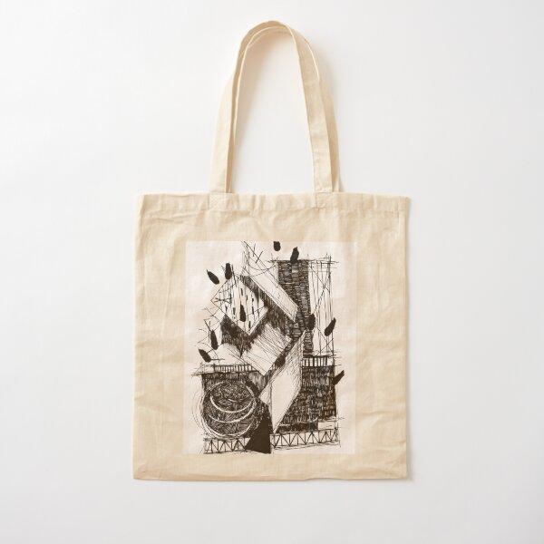 Monochrome Architecture 001  Cotton Tote Bag