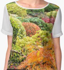Multicolored Plants - Nature Photography Women's Chiffon Top