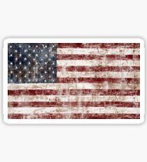 Rustic American Flag Sticker