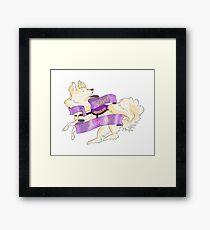 "Sassy Service Dogs | ""Don't Touch Me"" Pomeranian Framed Print"