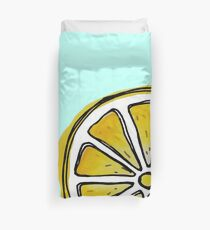 Aquarell Zitrone Bettbezug