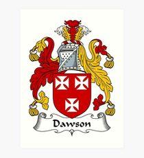Dawson Coat of Arms / Dawson Family Crest Art Print