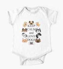 Keep calm and love dogs One Piece - Short Sleeve