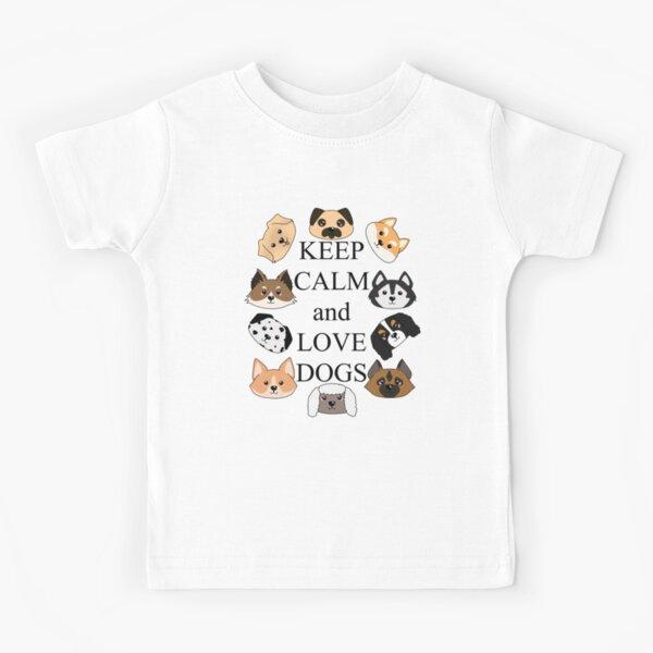 Keep calm and love dogs Kids T-Shirt