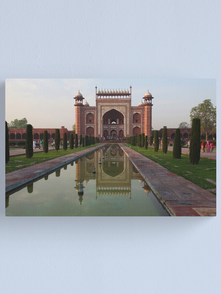 Alternate view of The Taj Mahal Main Entrance Gates Canvas Print