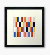 Nice Colorful retro Fashion Pattern Original Design Framed Print