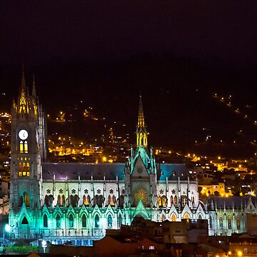 Old Cathedral of Quito At Night by alabca
