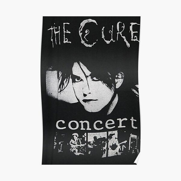 The Cure Black and White Concert Poster