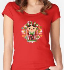 Maria 5 (Mexican Doll) Fitted Scoop T-Shirt