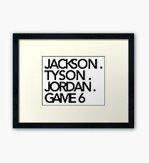 Jackson. Tyson. Jordanien. Spiel 6 - Jay-Z & Kanye West Gerahmter Kunstdruck