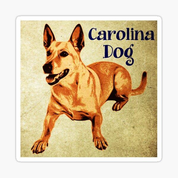 Vintage Carolina dog cartoon Sticker