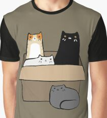 Cats in a Box Graphic T-Shirt