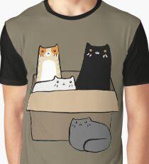 Chats dans une boîte T-shirt graphique