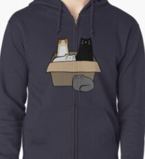 Cats in a Box Zipped Hoodie