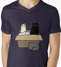 Cats in a Box Men's V-Neck T-Shirt