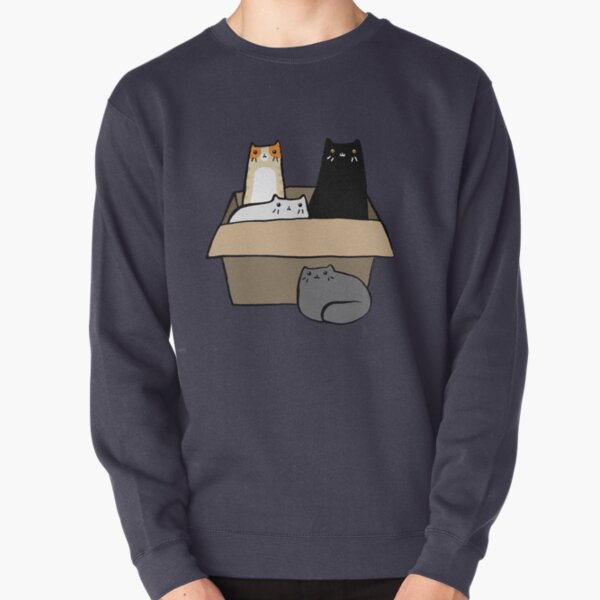 Cats in a Box Pullover Sweatshirt