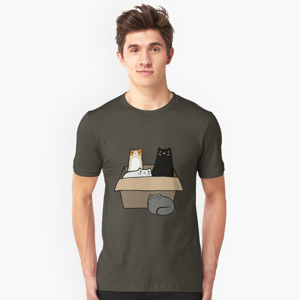 Cats in a Box Slim Fit T-Shirt