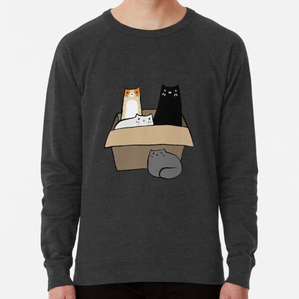 Cats in a Box Lightweight Sweatshirt