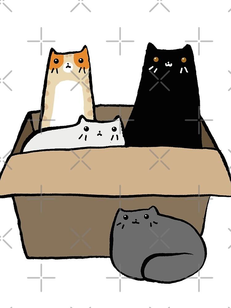 Gatos en una caja de SaradaBoru