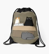Cats in a Box Drawstring Bag