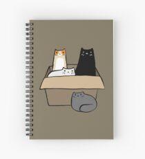 Cuaderno de espiral Gatos en una caja