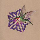 HummingBird Rochester Flower Drawing by justteejay