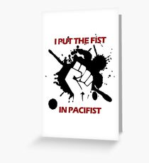 Pacifist Greeting Card