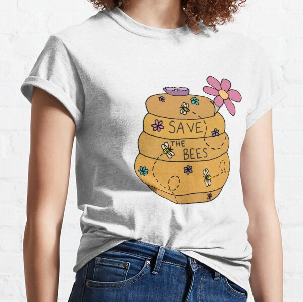 save the bees honey pot Classic T-Shirt