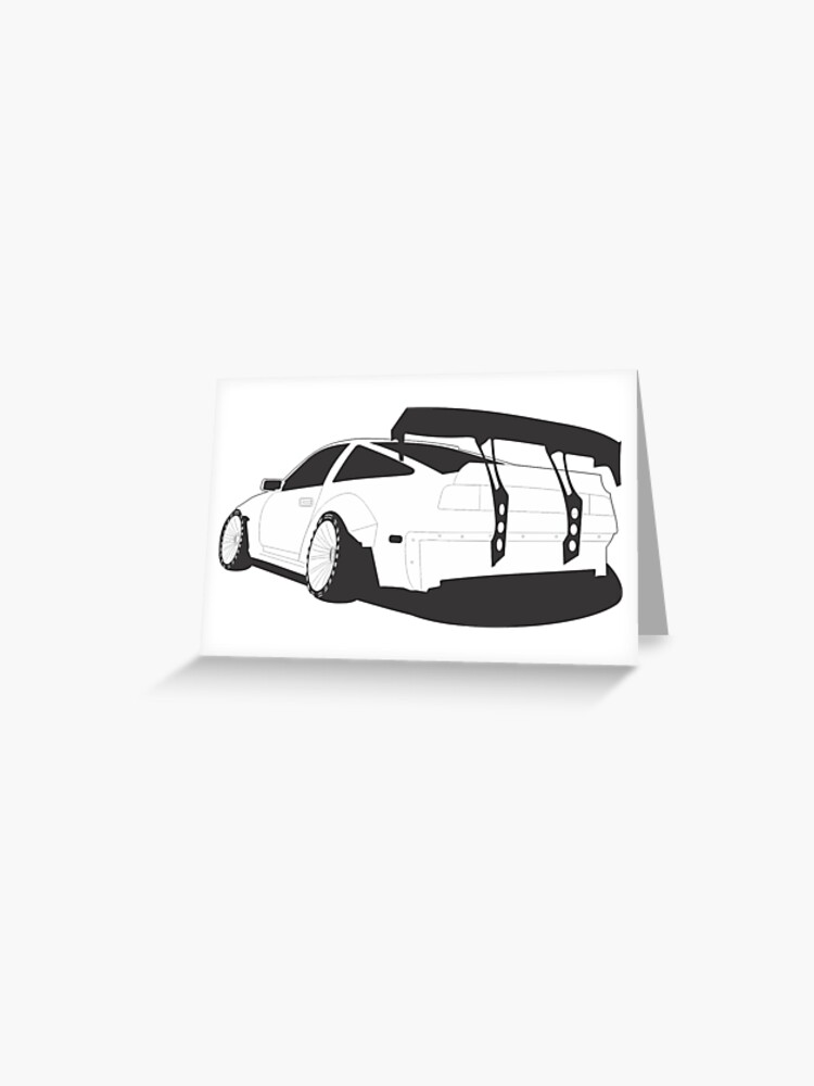Z31 Widebody Greeting Card By Neuefab Redbubble