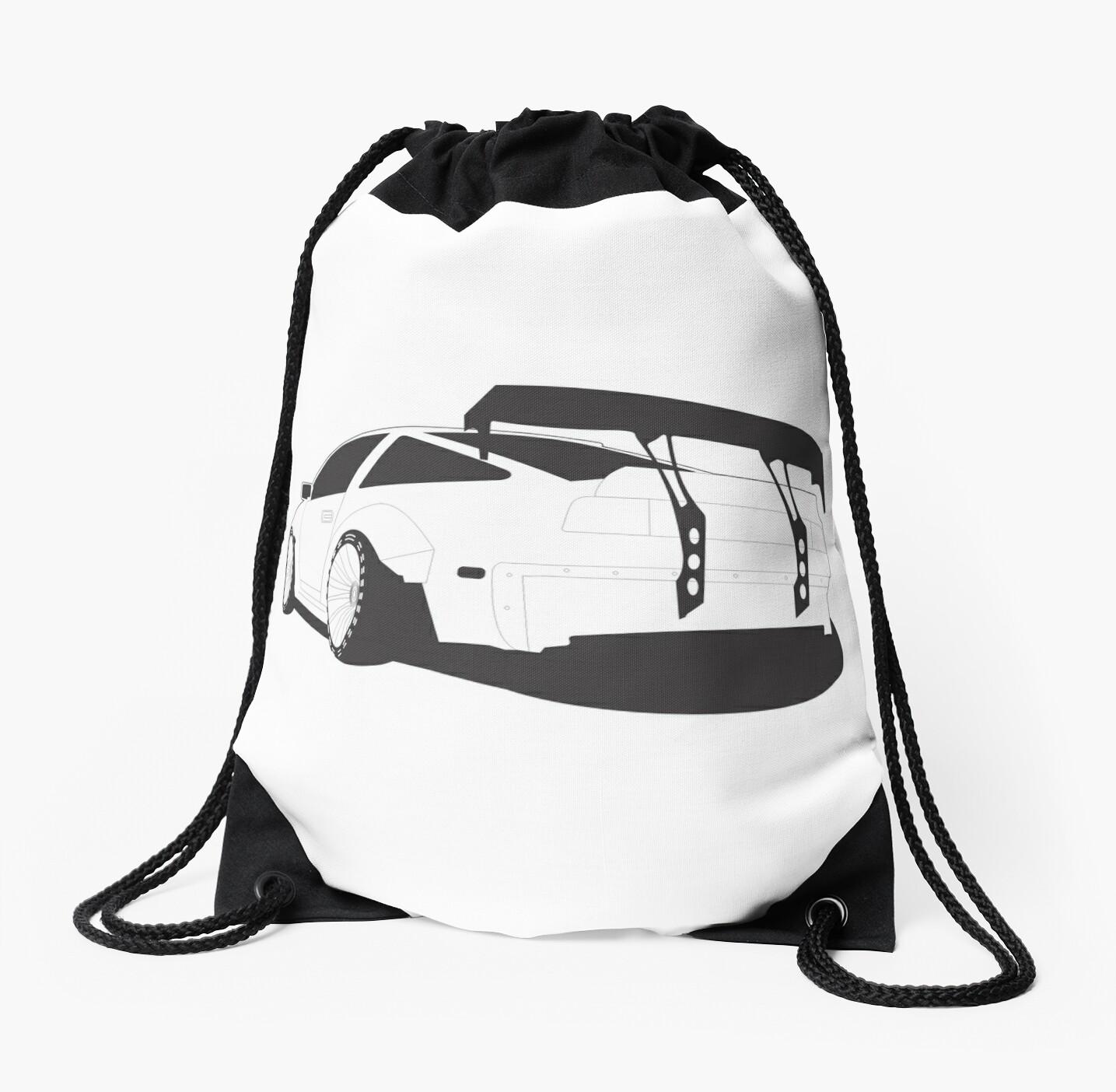Z31 Widebody Drawstring Bag By Neuefab Redbubble