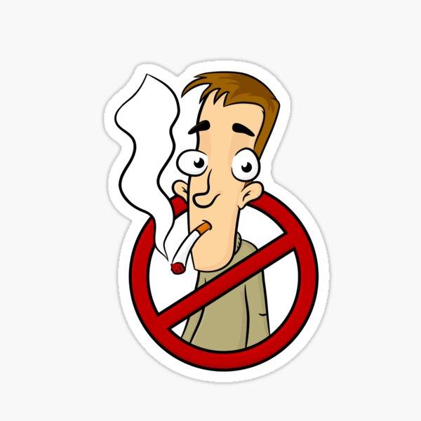 Stop Smoking Cigarettes Fun Clipart Sticker