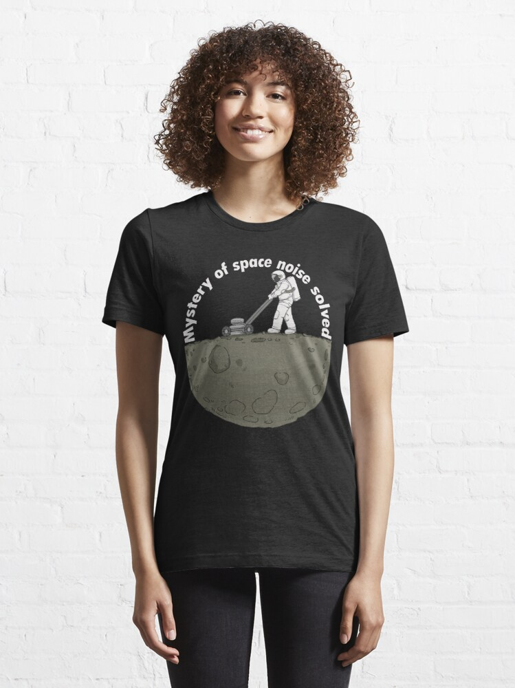Alternate view of astronaut cosmos space noise Moon Design Essential T-Shirt