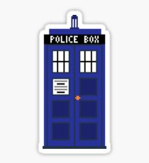 8-Bit TARDIS Sticker