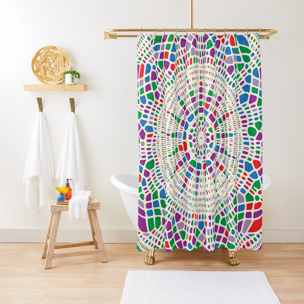 Colorful Doily Pattern Shower Curtain