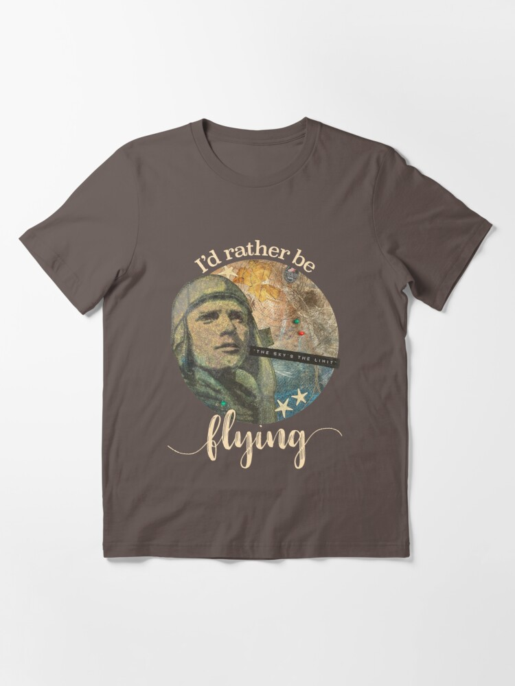 Alternate view of Father's Day I'd Rather Be Flying Essential T-Shirt